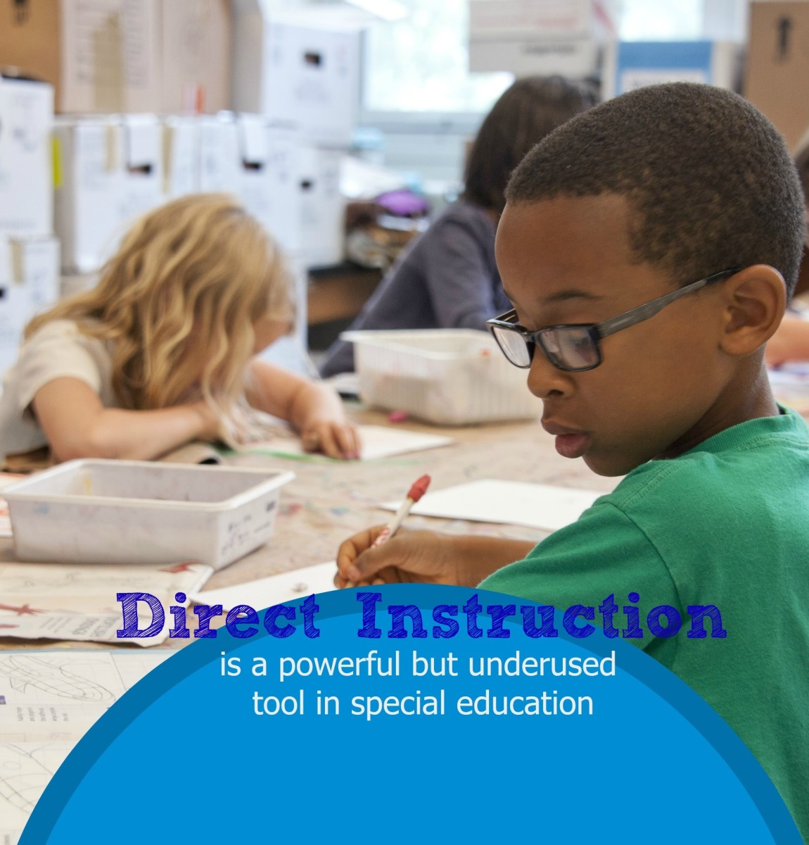 Many students with autism benefit from direct instruction: the small group learning, the repetition, the practice, and the review.