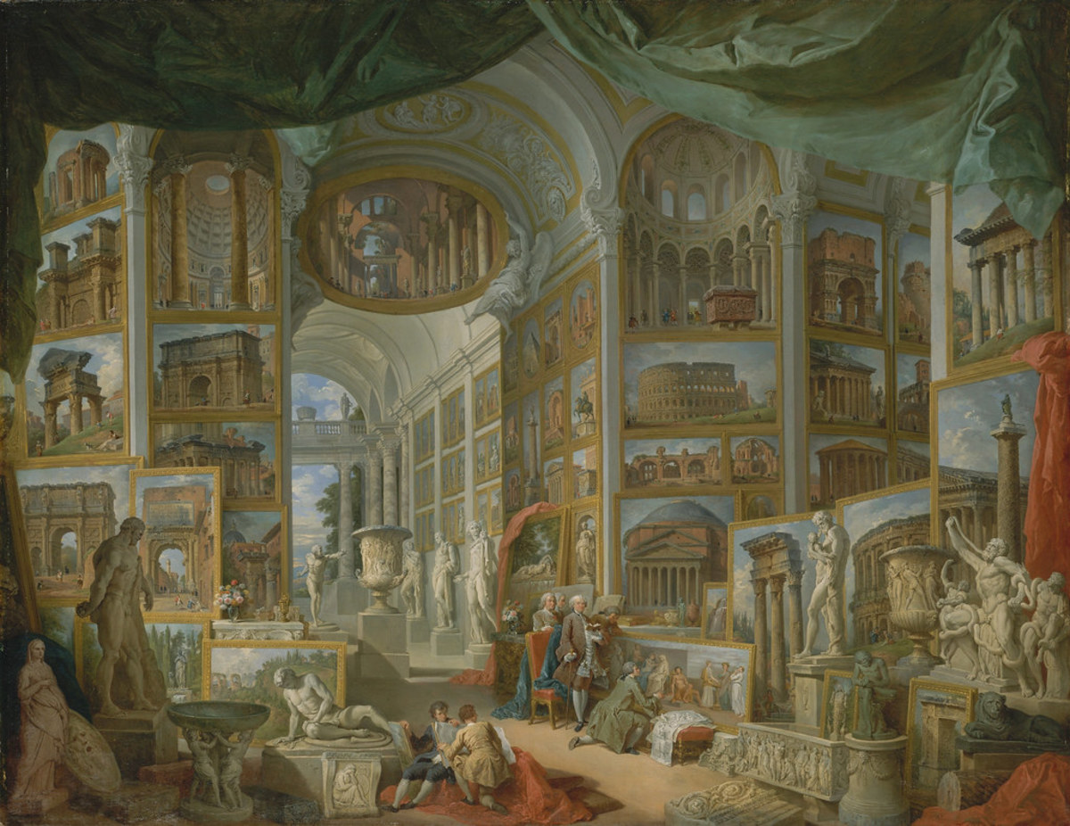 Ancient Rome, by Giovanni Paolo Panini via Tulip Hysteria on Creative Commons, CC PDM 1.0