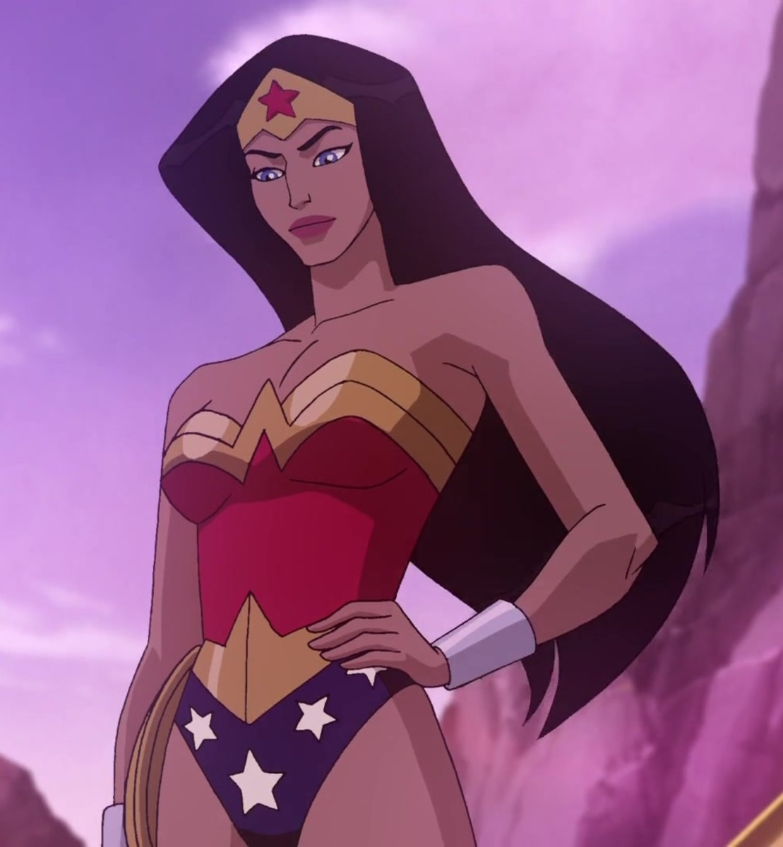 Diana donning the Wonder Woman costume.