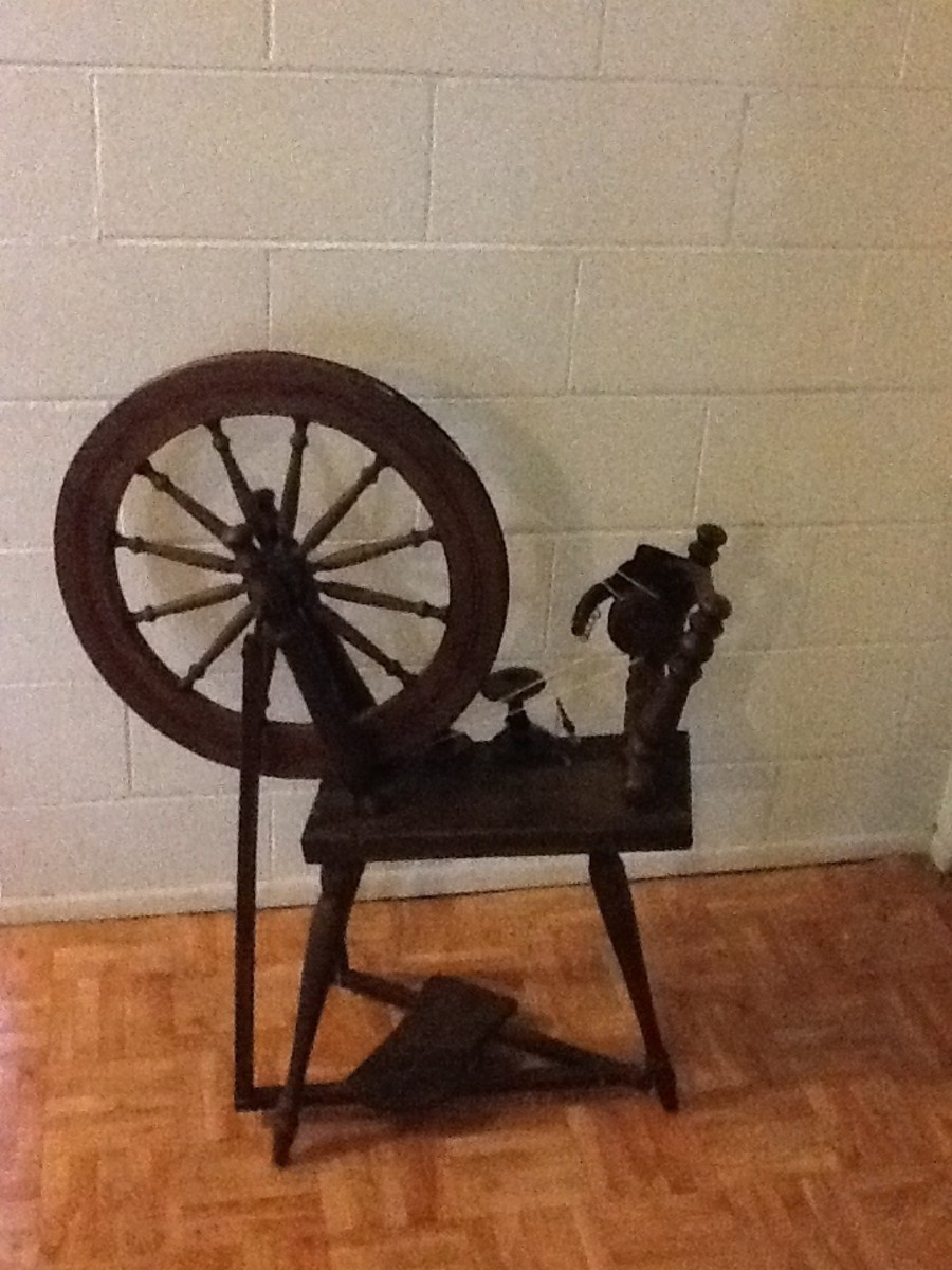 My wife's 'Sleeping Beauty' spinning wheel.