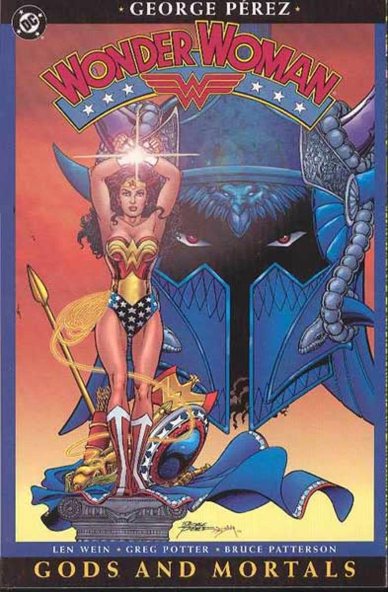 Gods and Mortals trade paperback cover.