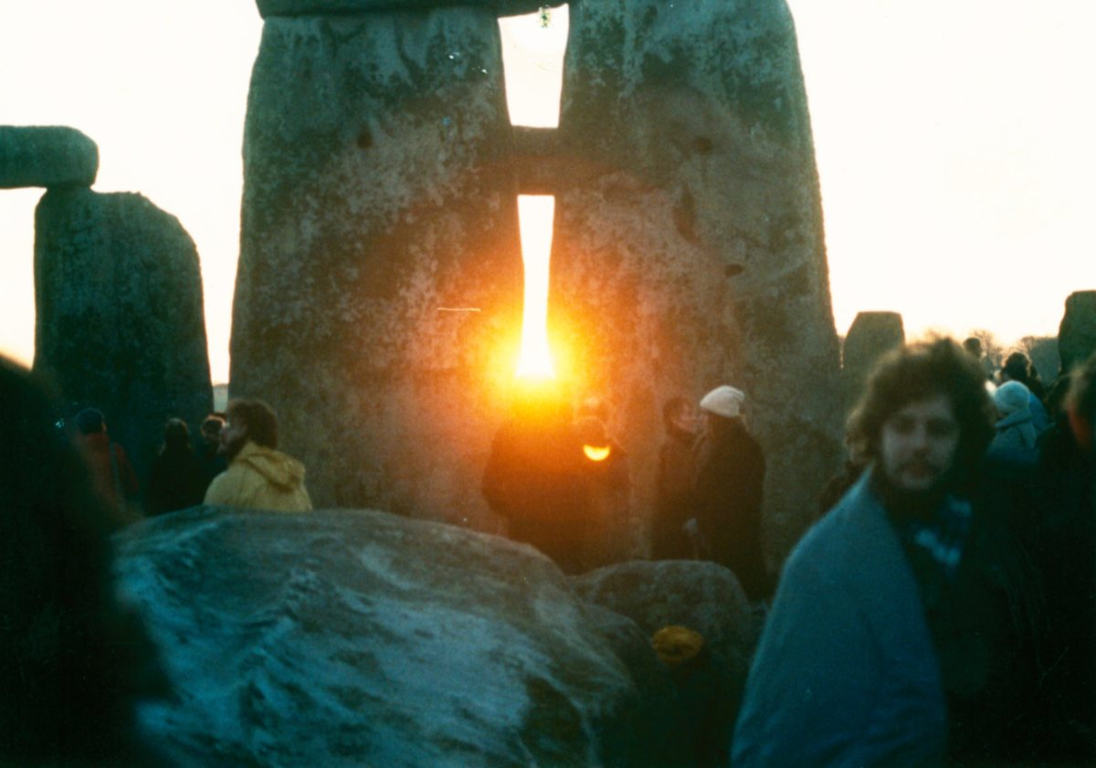 Celebration of Winter Solstice at Stonehenge