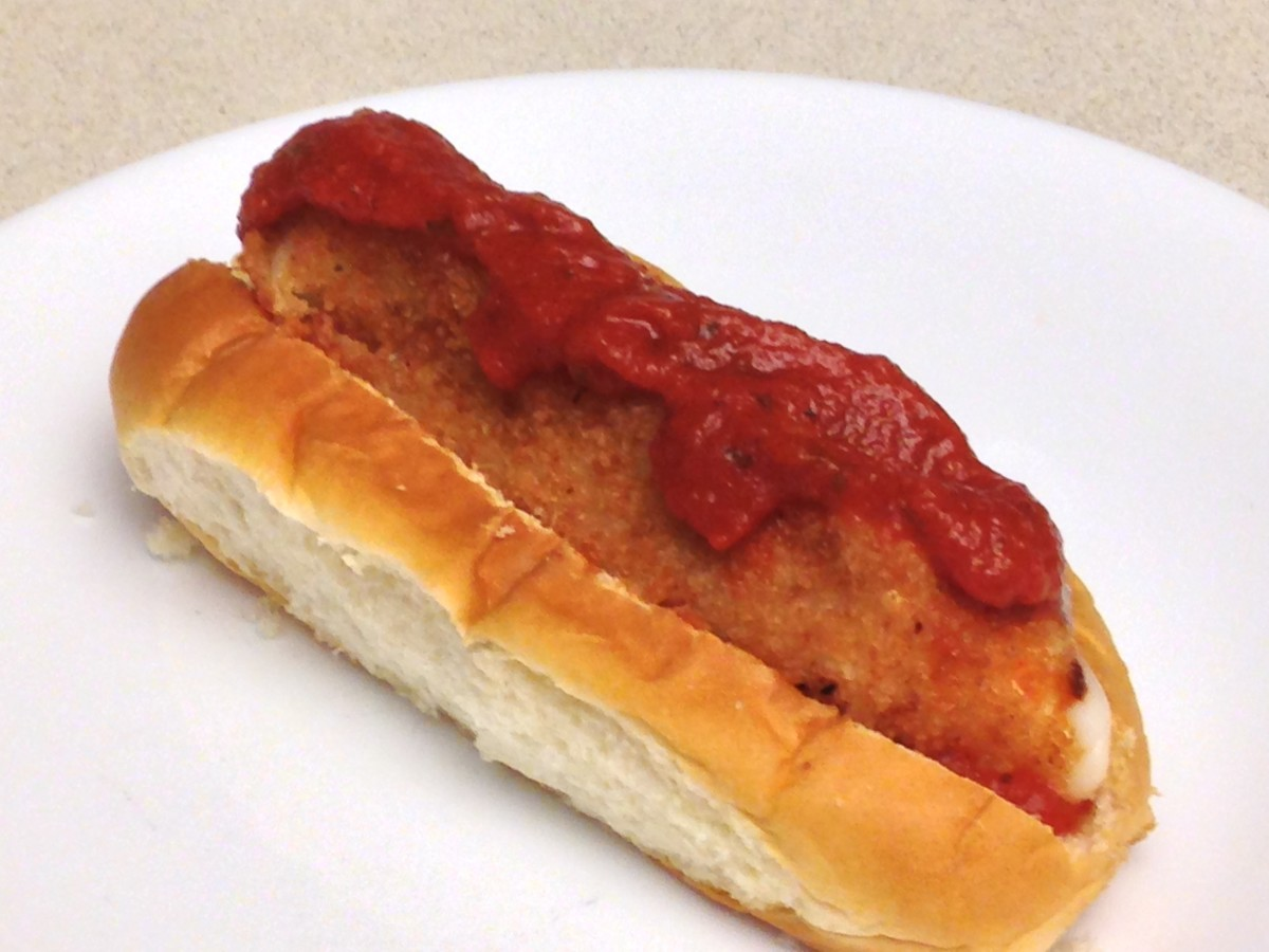 Fried Mozzarella Cheese Stick with Spaghetti Sauce in a Hawaiian Bun