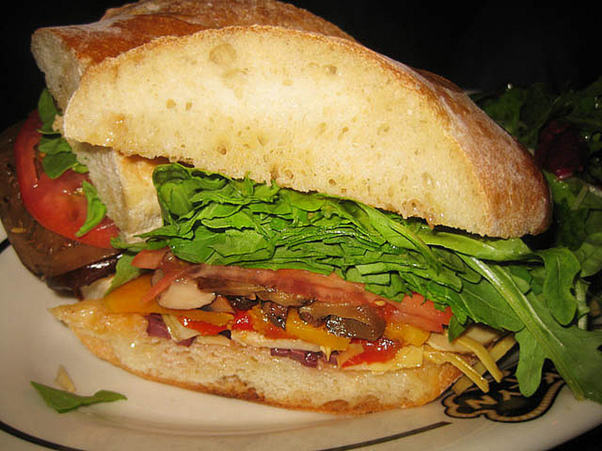 Veggie Sandwich with Spinach & Arugula