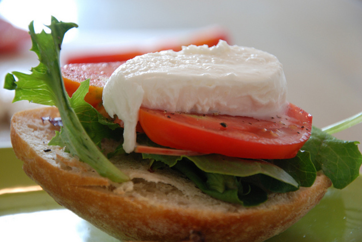 Classic Caprese Sandwich with Tomato, Mozzarella, and Basil