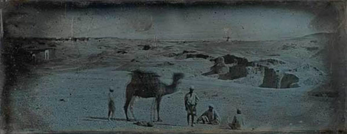 "The Daguerreotype is housed in the Metropolitan Museum of Art in New York. Name ""Desert near Alexandria""."