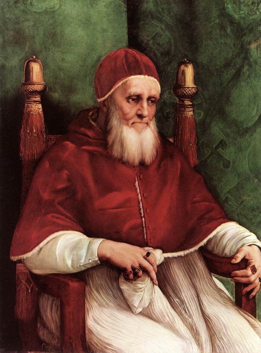 POPE JULIUS II AS PAINTED BY RAPHAEL IN 1512