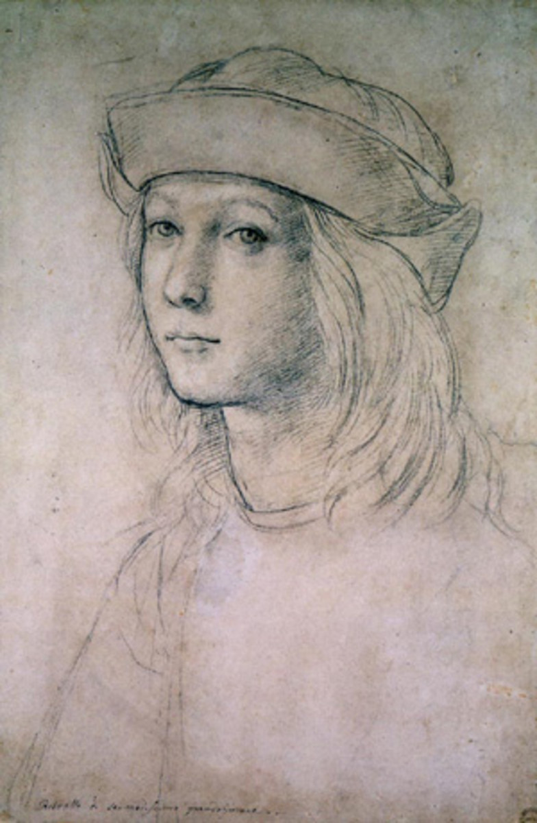 SELF PORTRAIT OF RAPHAEL AS A TEENAGER