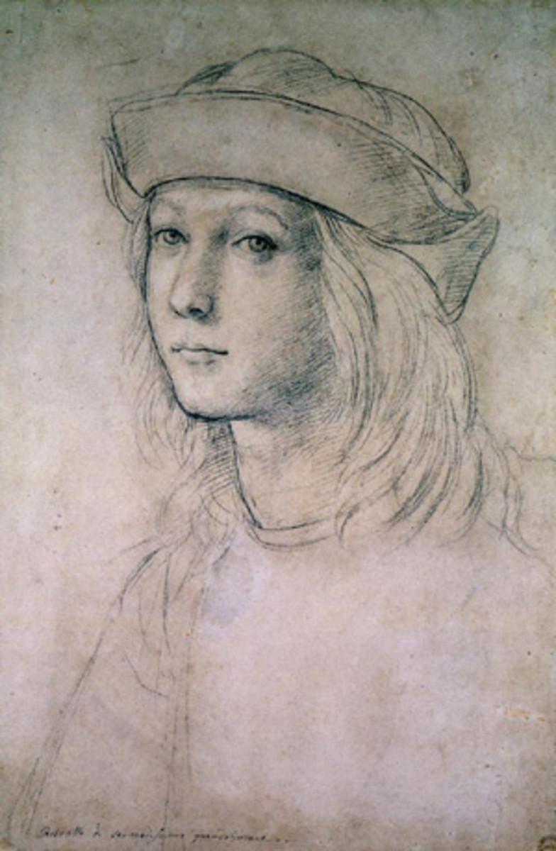 SELF PORTRAIT OF RAPHAEL AS A TEENAGER