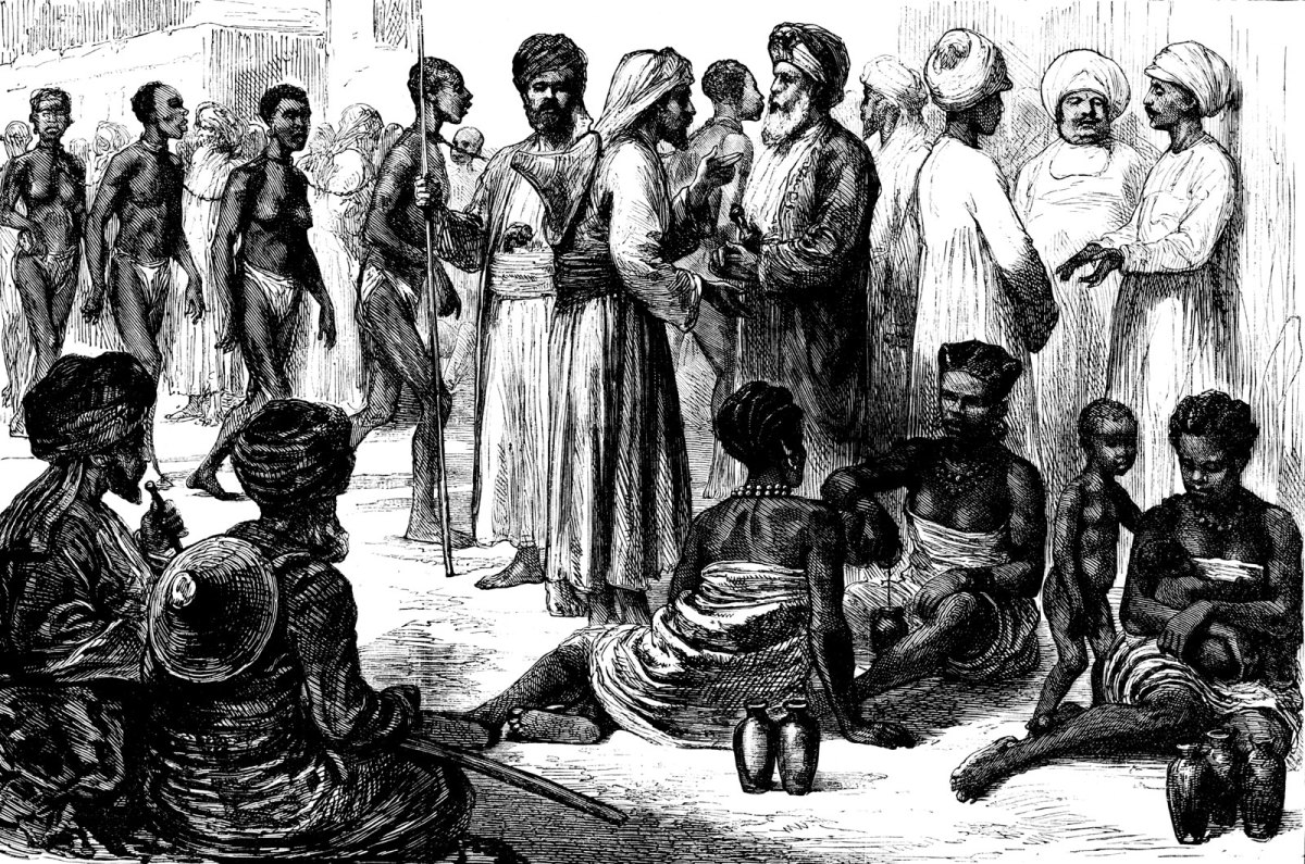 MUSLIMS BUYING SLAVES IN AFRICA IN THE 15TH CENTURY
