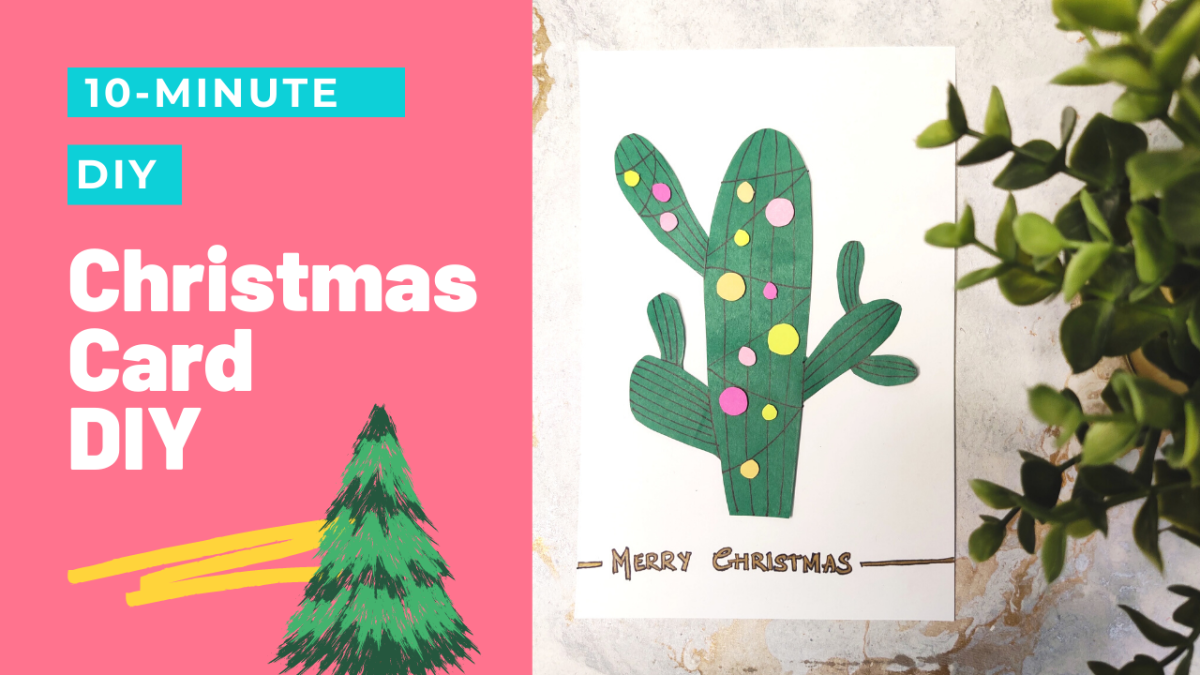 Learn how to create an adorable Christmas cactus greeting card for a loved one in just a few minutes.