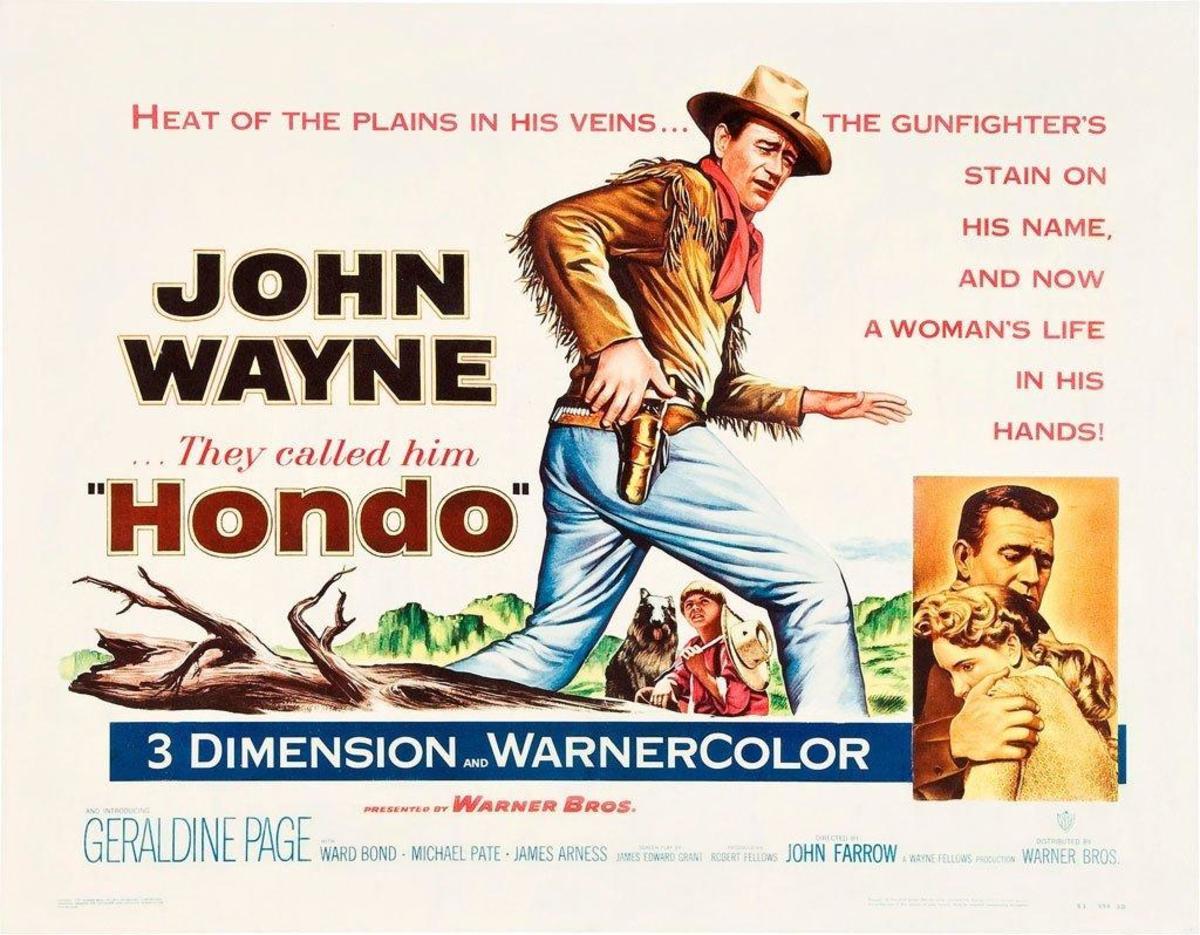 Poster fo Film  Hondo