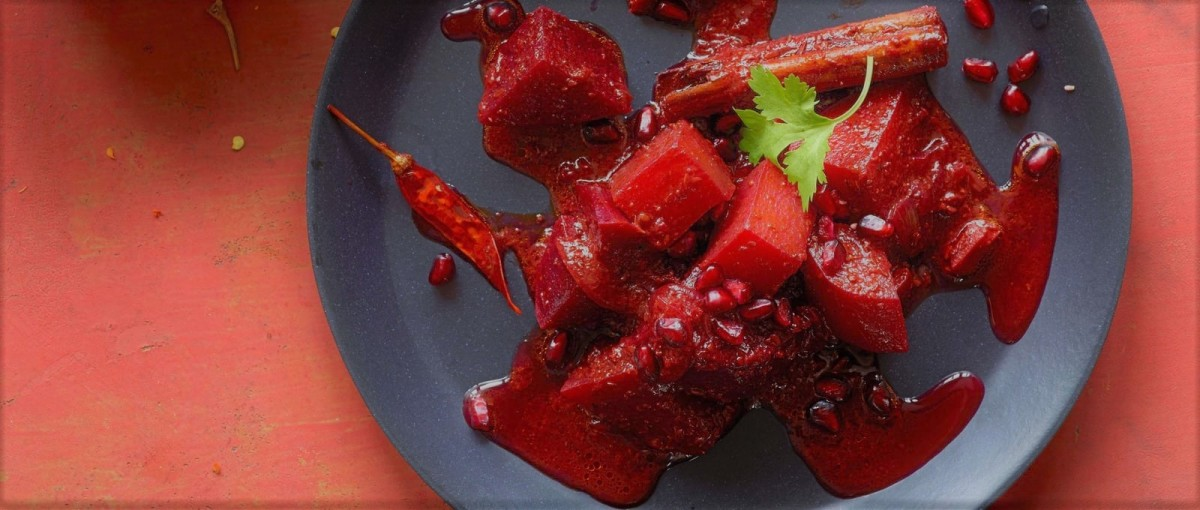 Pomegranate Beetroot Curry