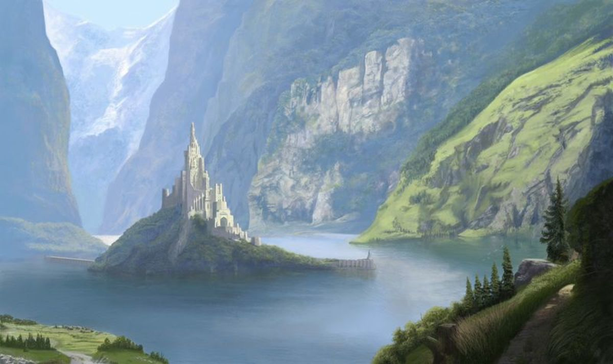The original Minas Tirith, by Stefan Meisl, was a fortress held by the Elf-lord, Finrod until it was lost during the Dagor Braggolach War.  It then served as Sauron's outpost and torture center.
