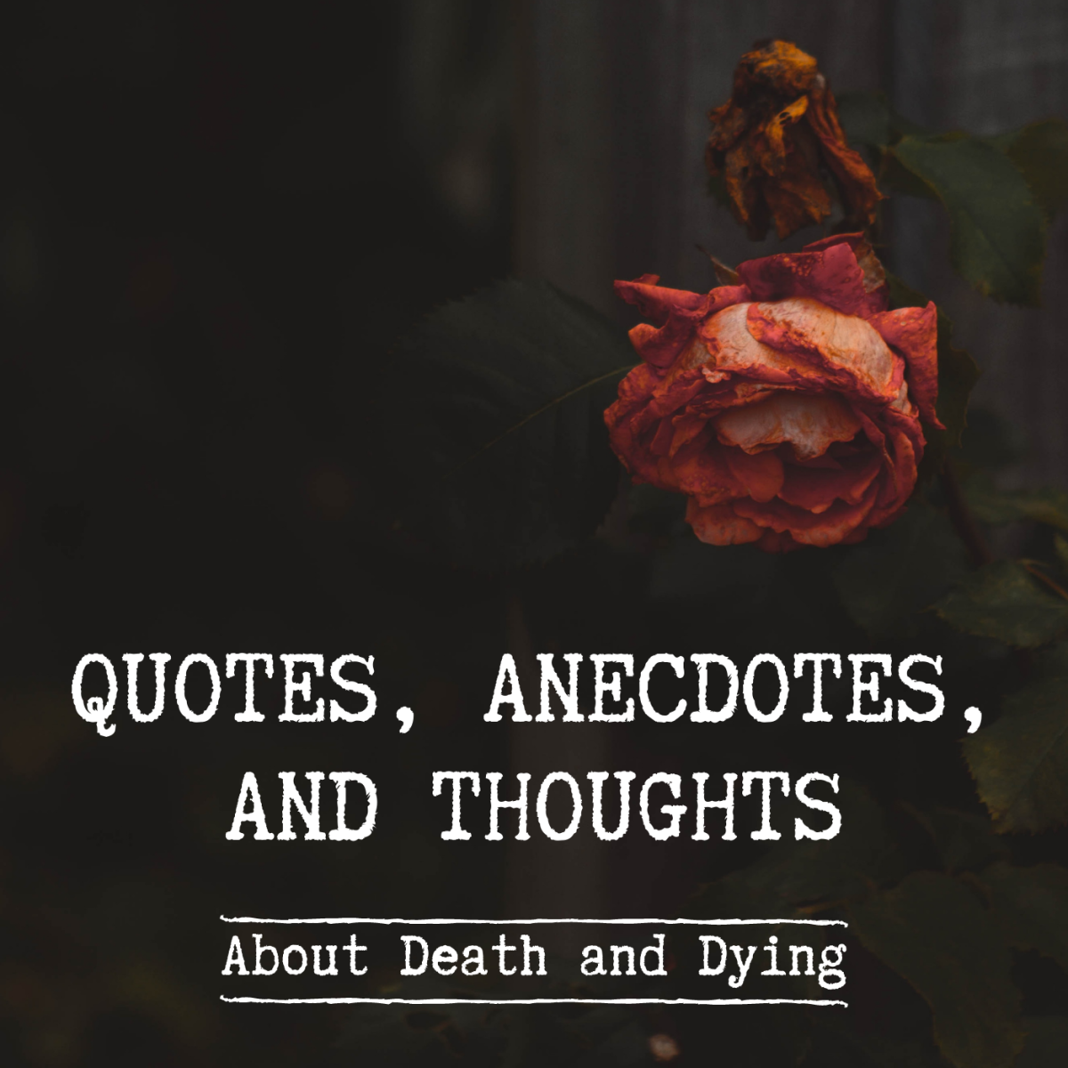 Quotations and Anecdotes About Death, Bereavement, and Grief