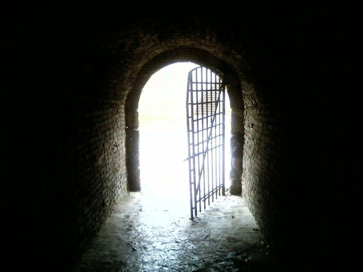 """""""Light on door at end of tunnel"""" Dusan Bicanski"""