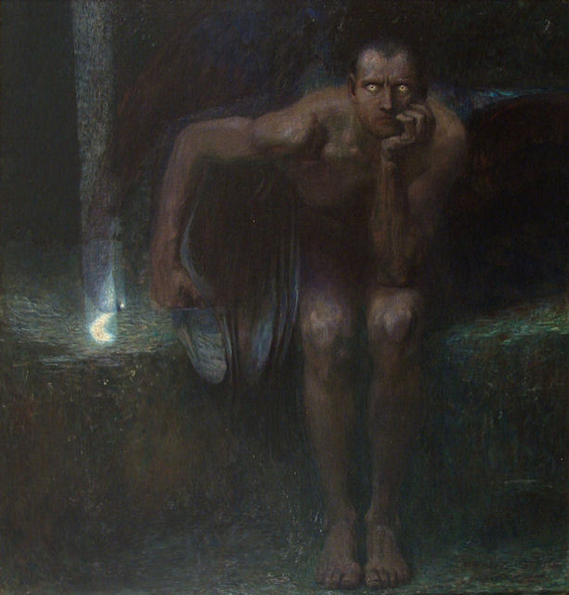 """""""Lucifer by Franz von Stuck, 1890"""" New Visions, Flickr"""