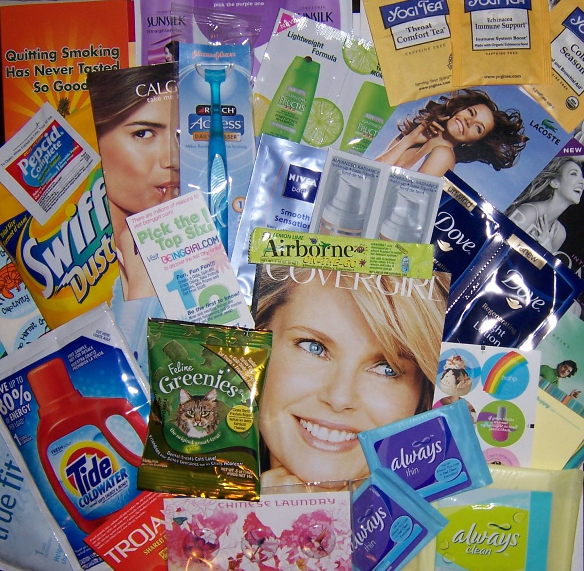 Free Samples! NoSurveys! Nothing to buy! Just totally free stuff! Free!