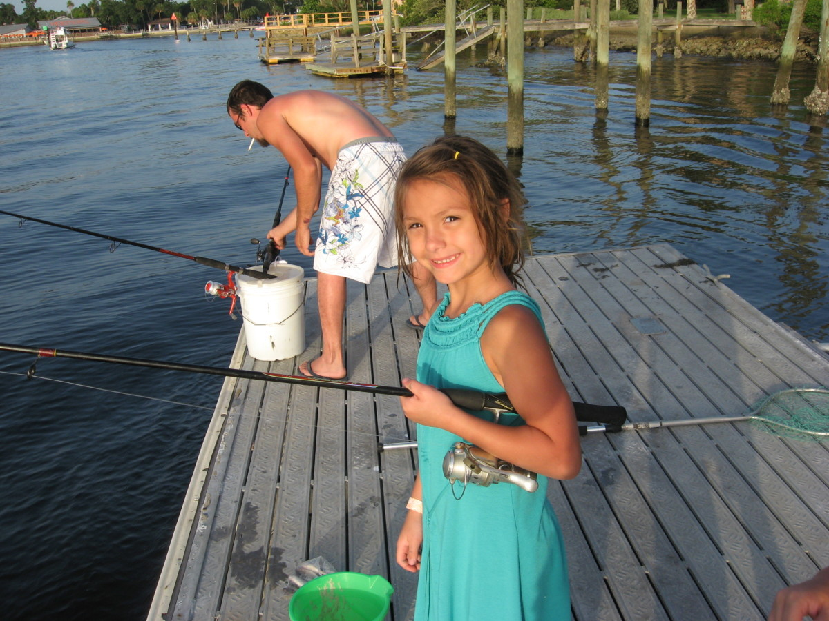 Our private saltwater fishing dock on our fishing vacation.