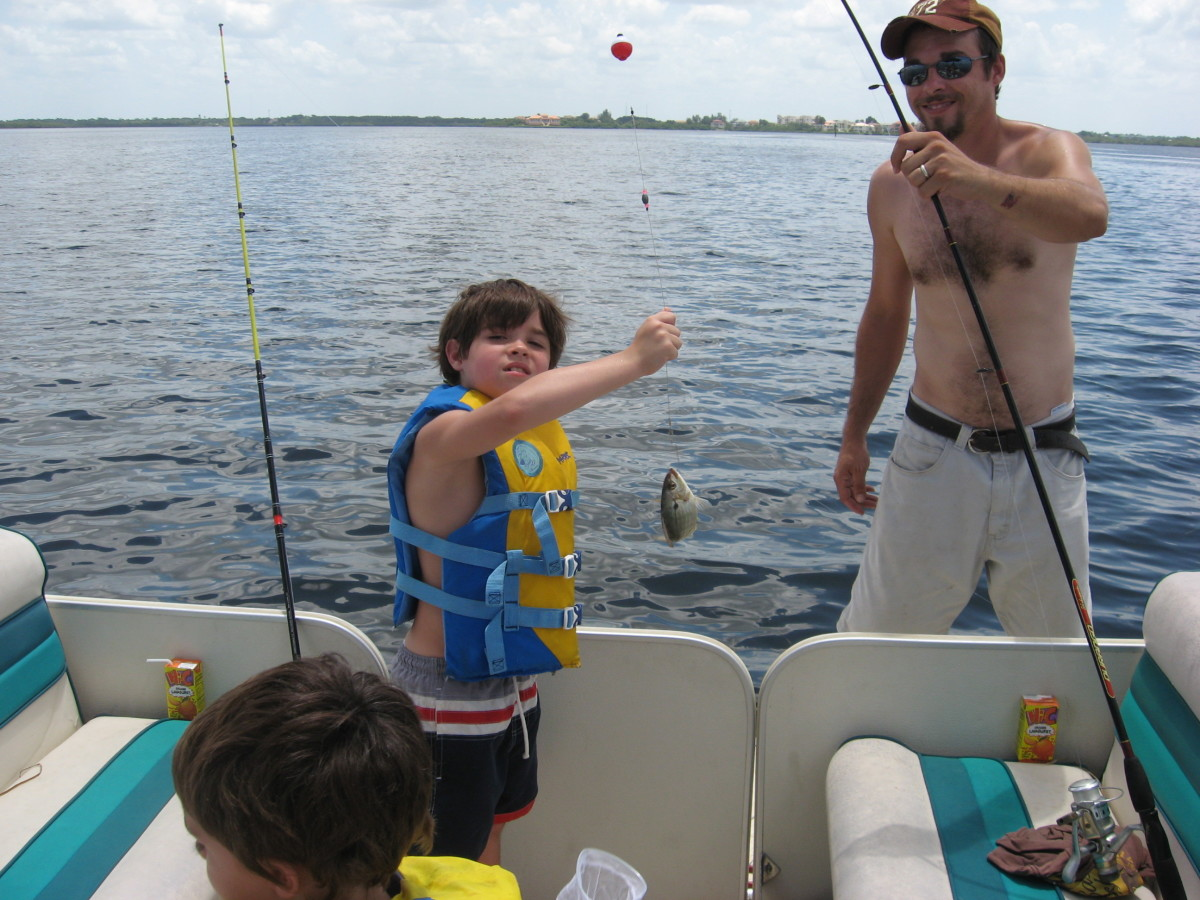 Jonathan was our bait-catcher while we were flats fishing.
