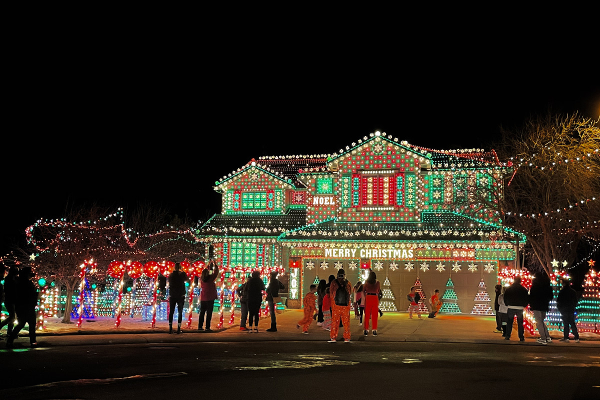 This house in Highlands Ranch draws a crowd on the weekends.