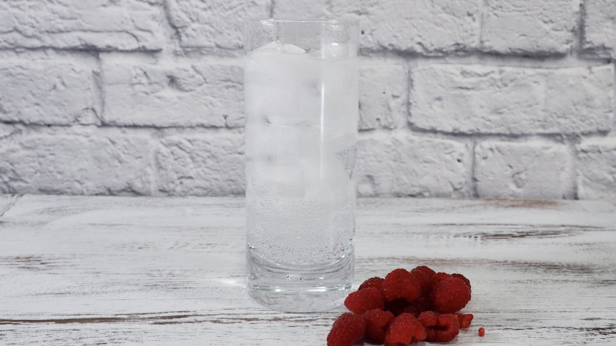 After carbonating your water, you can easily add some fruit for flavoring. Raspberries work particularly well.