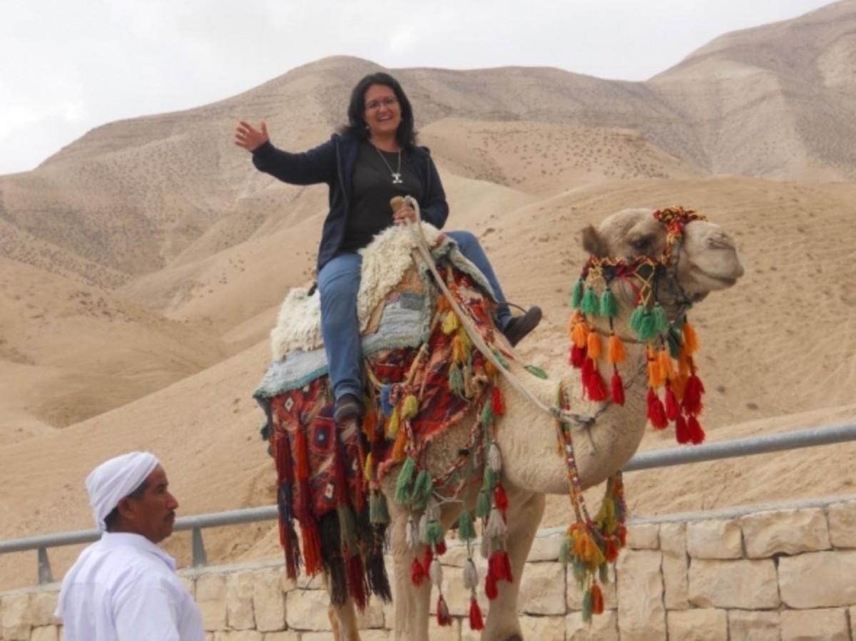 My Cousin riding a Camel!