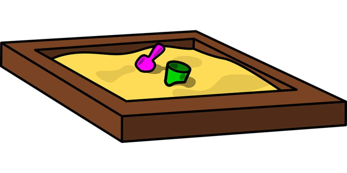 Sensory Table filled with Sand