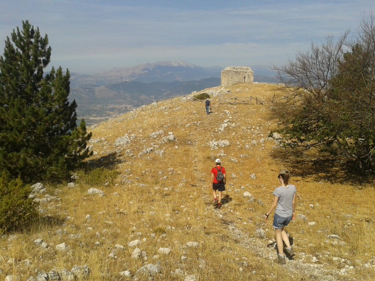 Hiking with friends on Mount Morrone, above the Peligna valley.