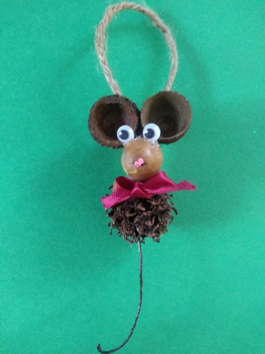 Rustic Christmas Mouse Ornament