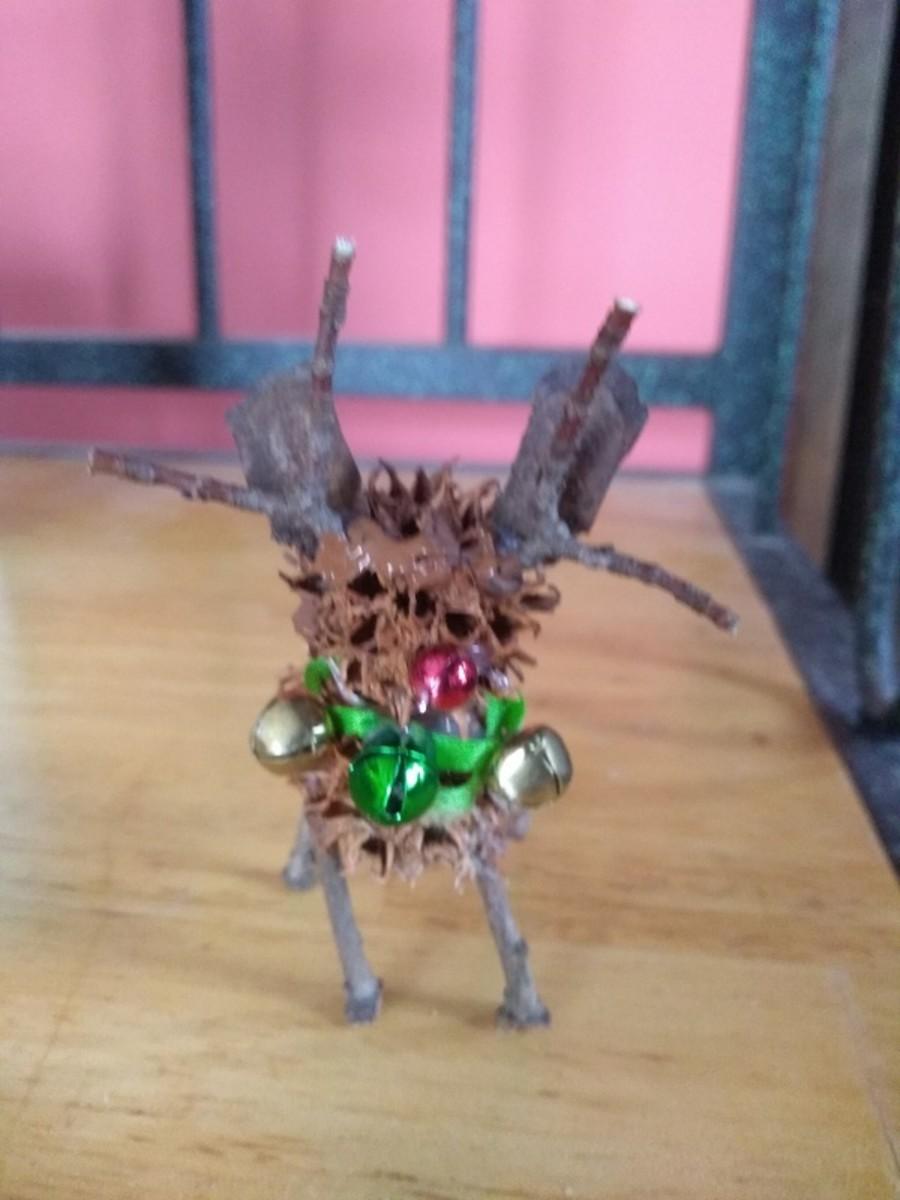 Rustic Reindeer Ornament