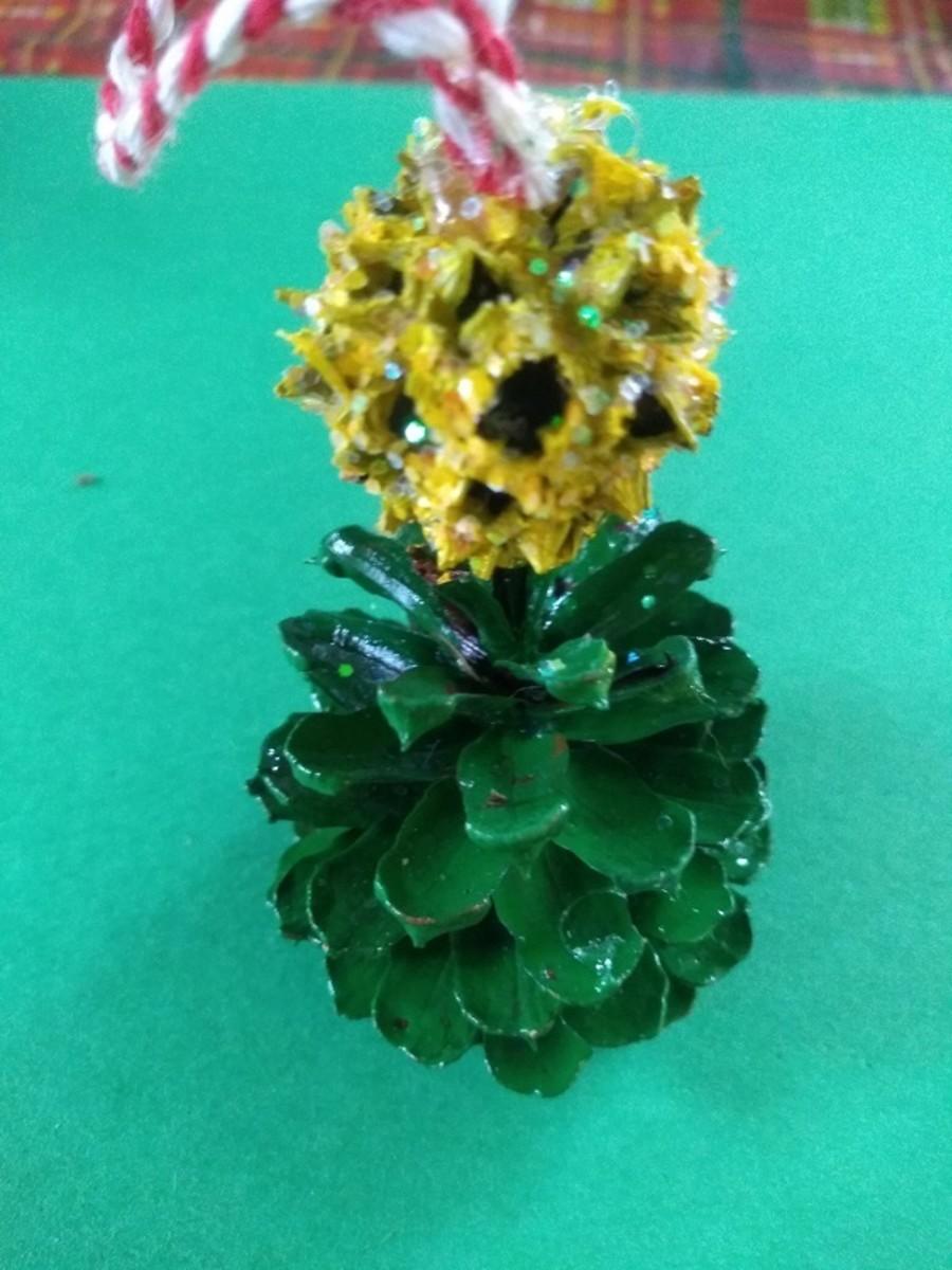 Pine Cone Tree Ornament