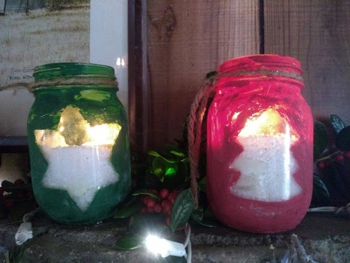 Chalk Paint Candles