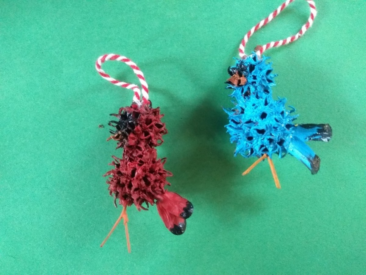 Sweetgum Bird Ornaments