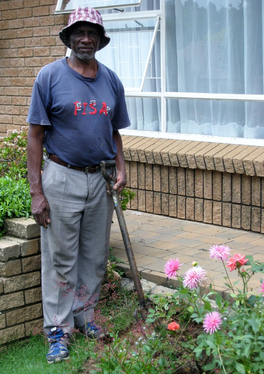 Enoch has been helping my Dad in the garden for about forty years!