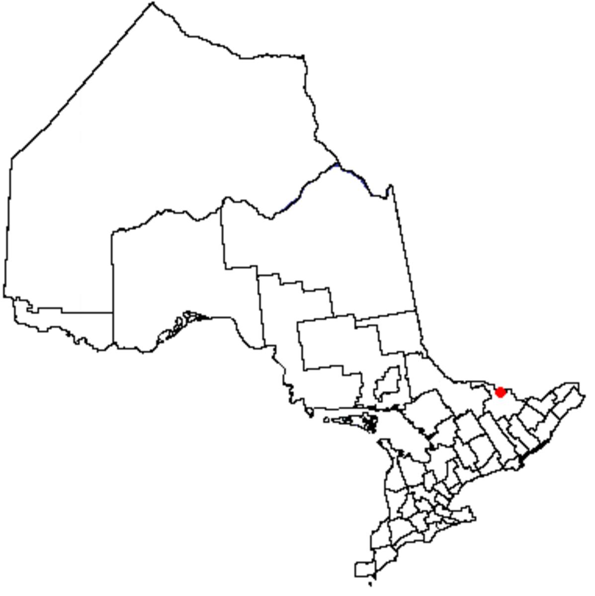 Map location of Pembroke, Ontario