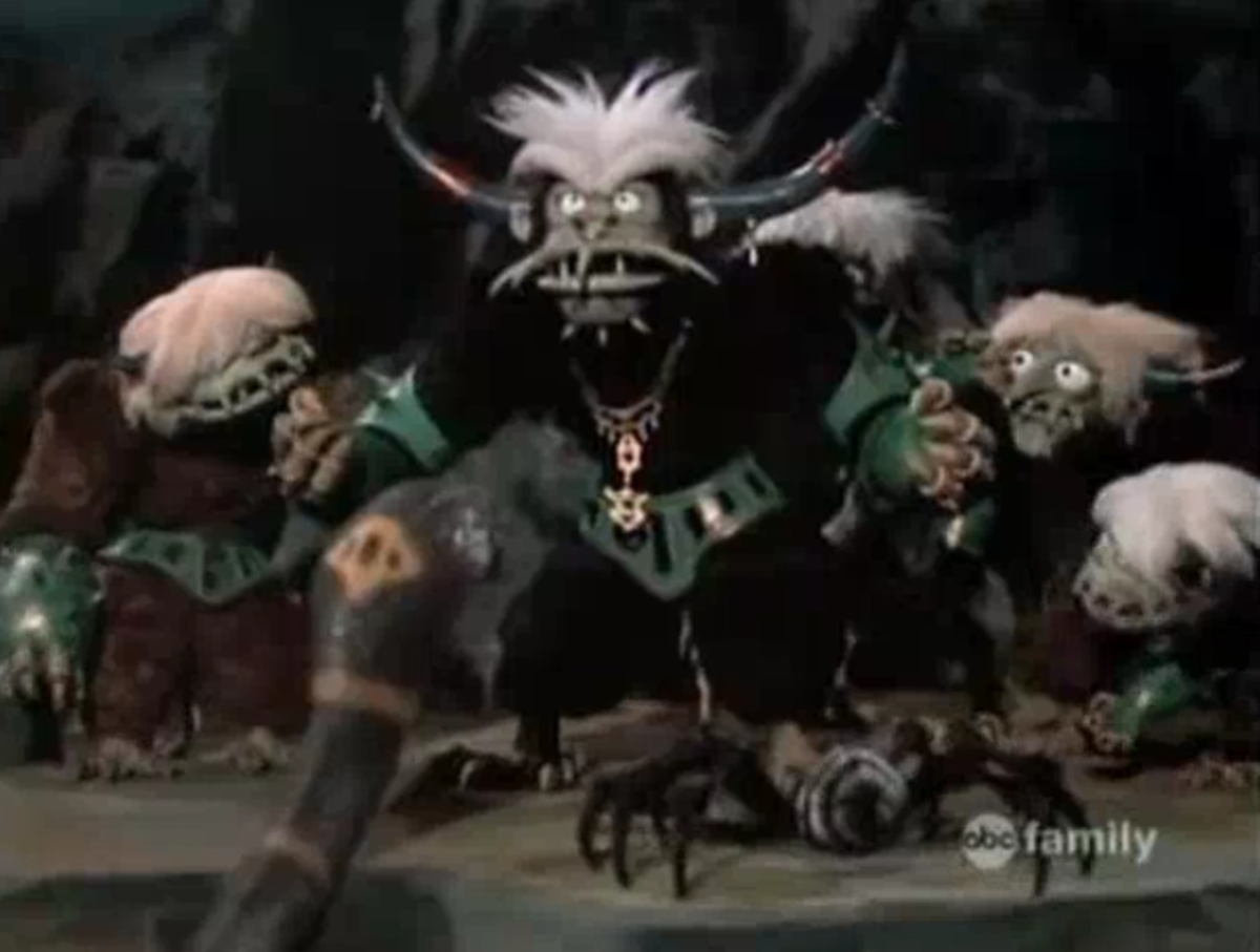 The Awgwas, a race of creatures who turn invisible and influence children to be bad, repeatedly target Claus.
