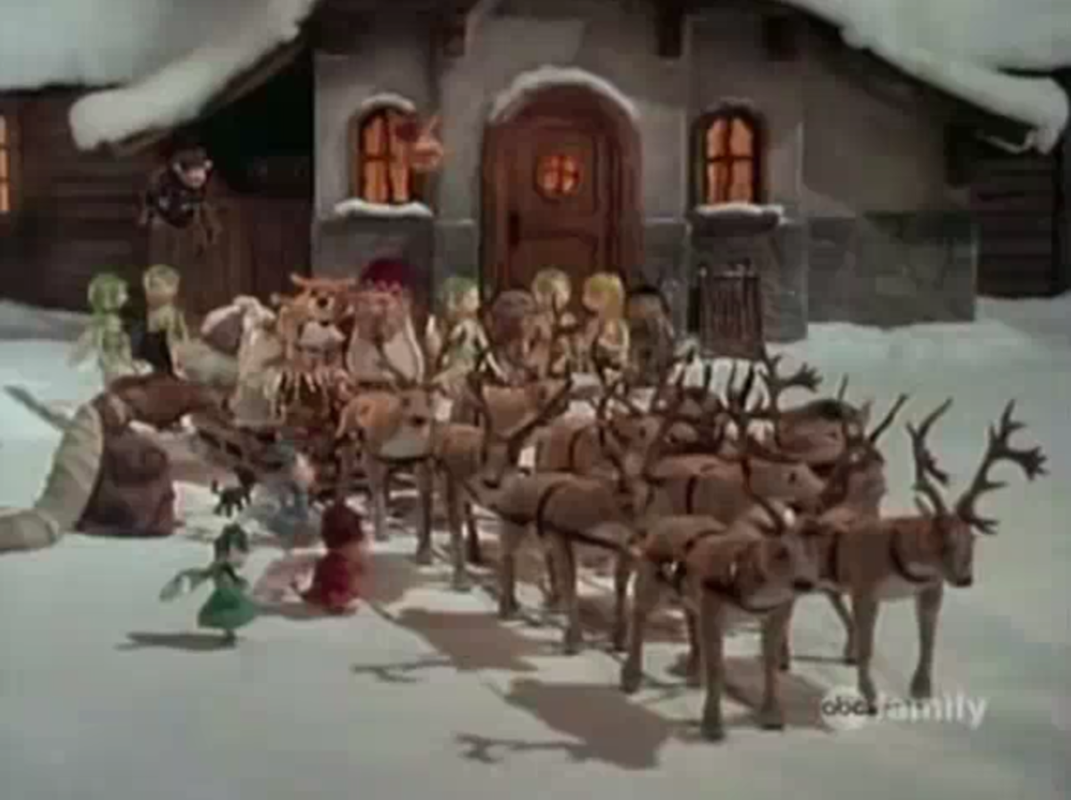 Following the battle, Santa is gifted eight magic reindeer.