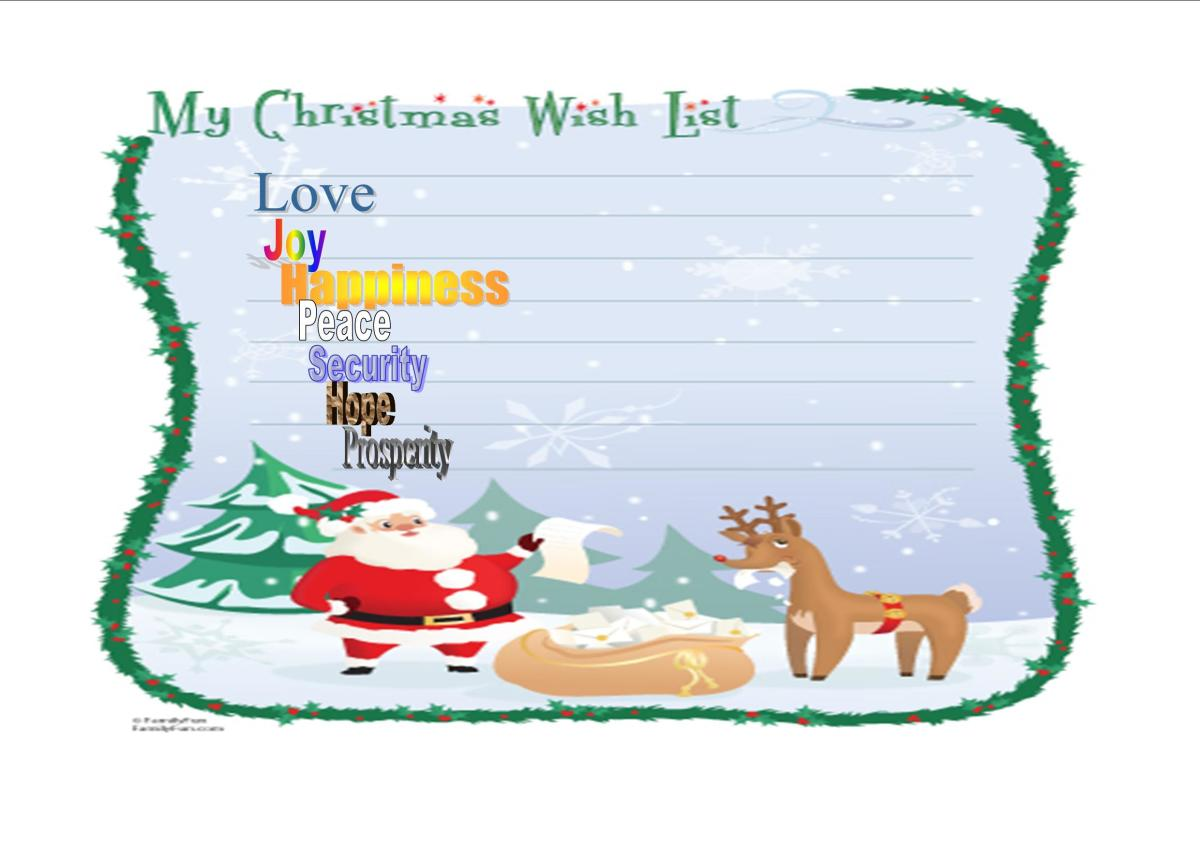 My Christmas Wishes for You