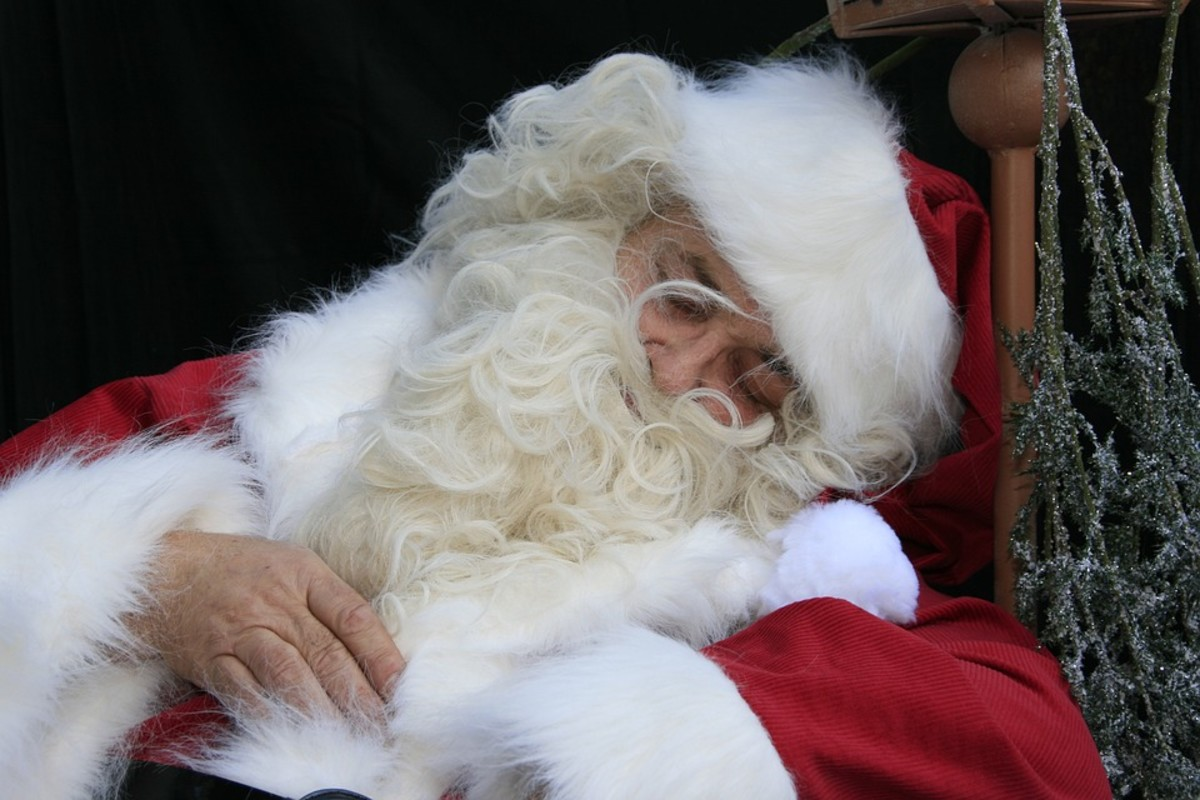 Santa was exhausted