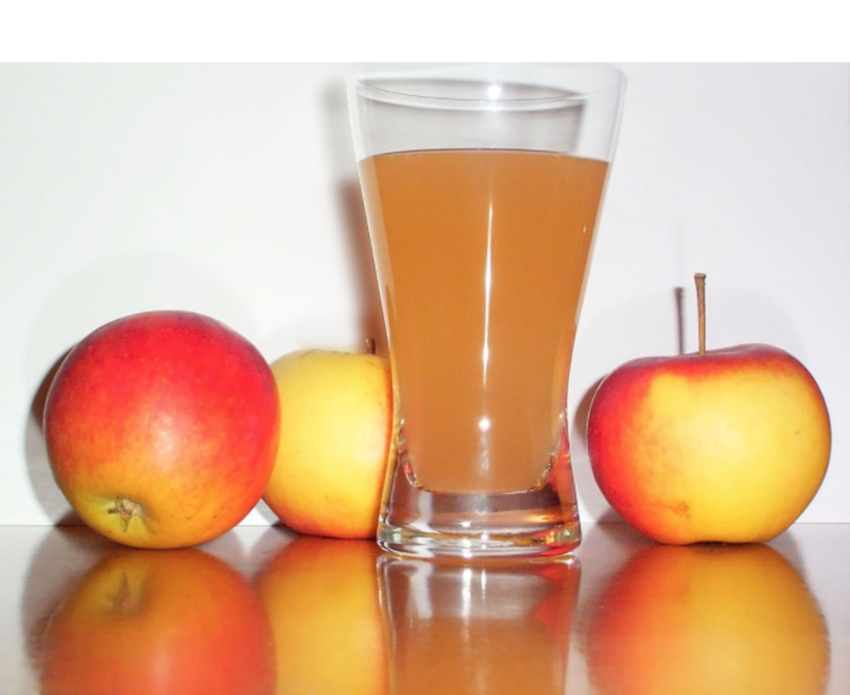 Eight ounces of apple cider or apple juice places the average man or woman close to or over the recommended AHA amount for daily sugar intake.