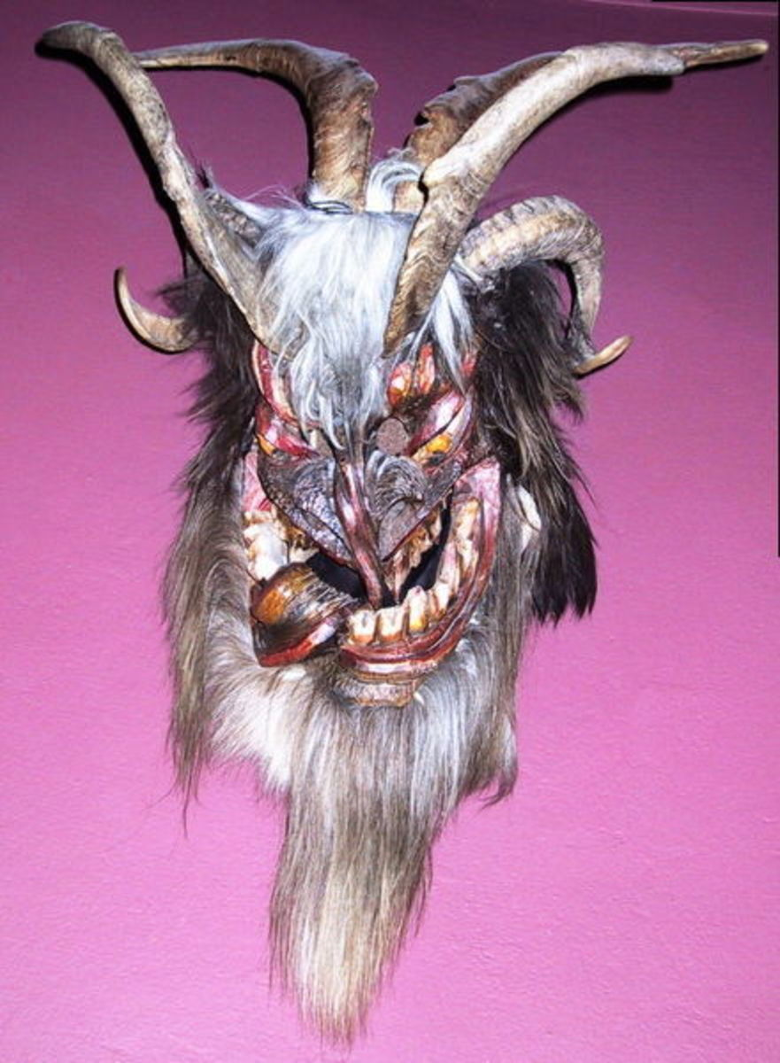 A perchten mask