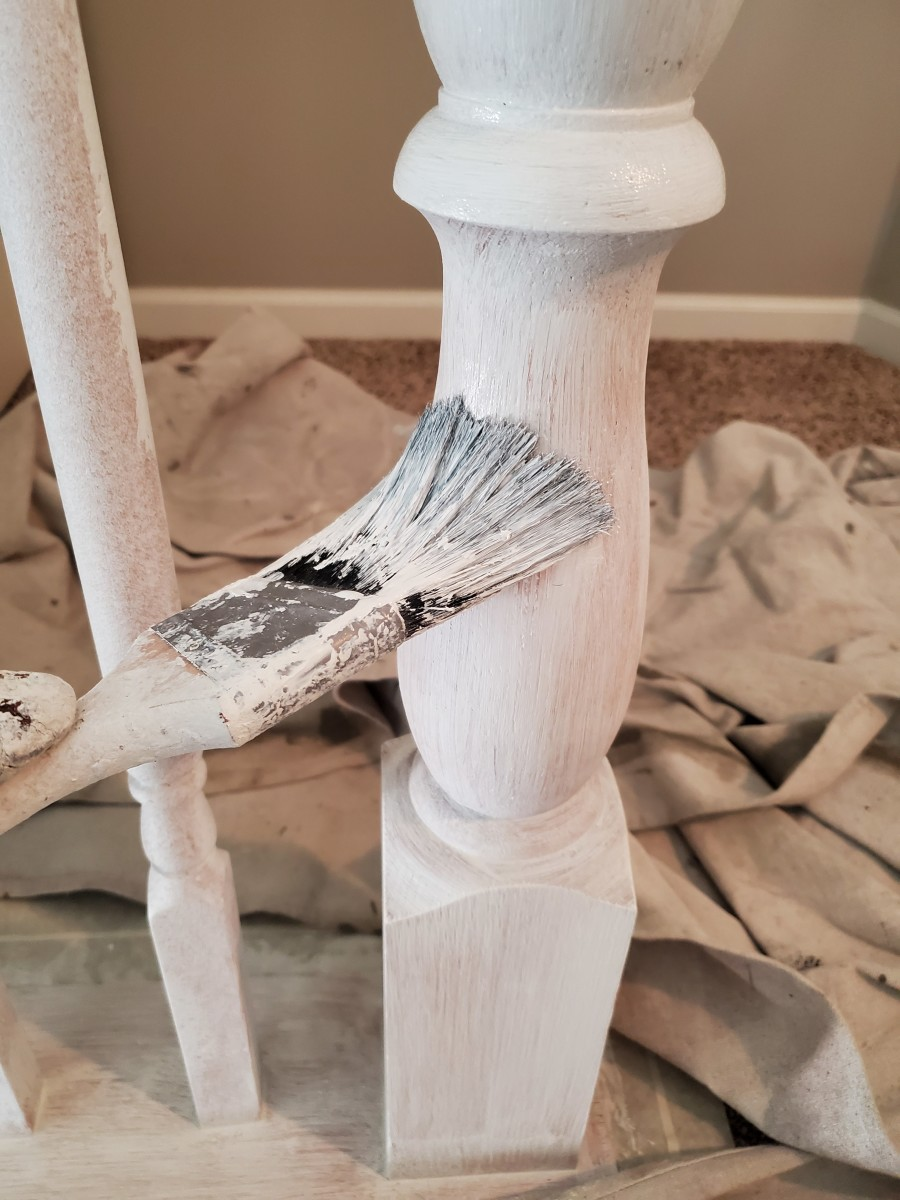 Priming spindles with Cover Stain.