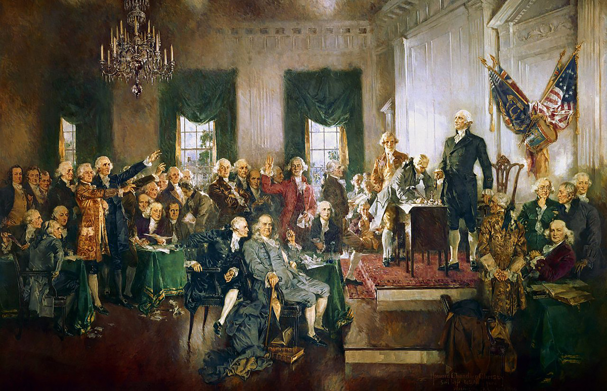 George Washington as president of  the 1787 Constitutional Convention