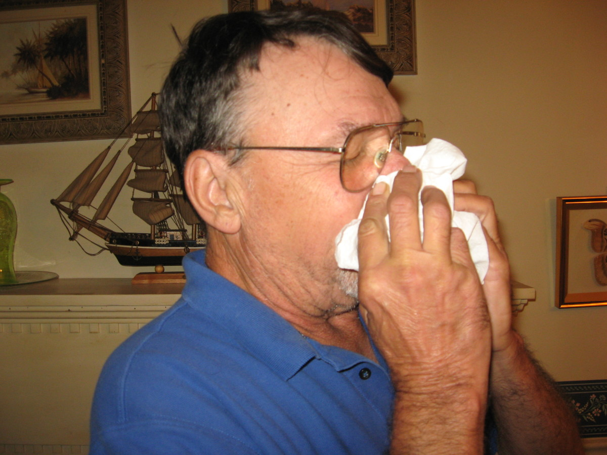 Germs can spread via coughs and sneezes.