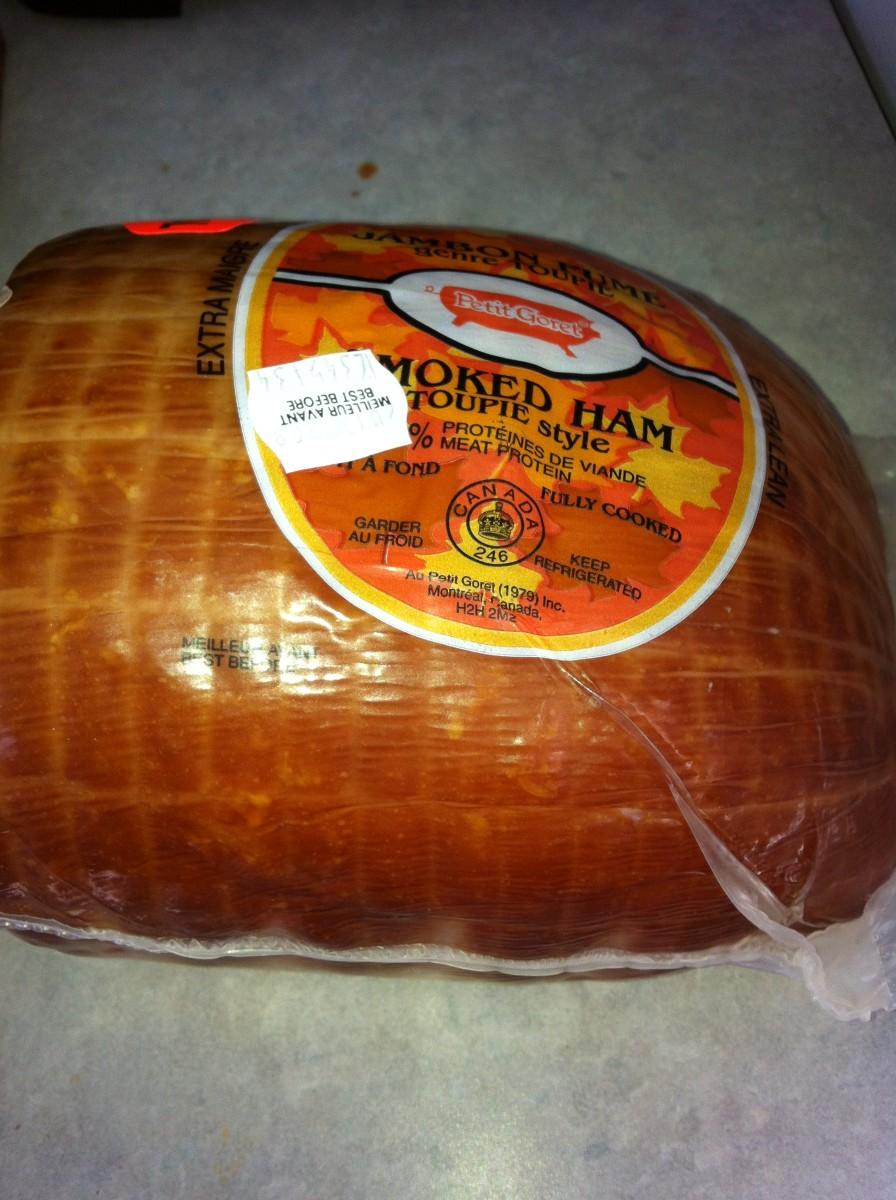 3 pound boneless fully cooked smoked ham.