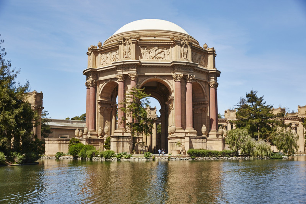 Palace of Fine Arts, San Francisco, built to commemorate opening of Panama Canal