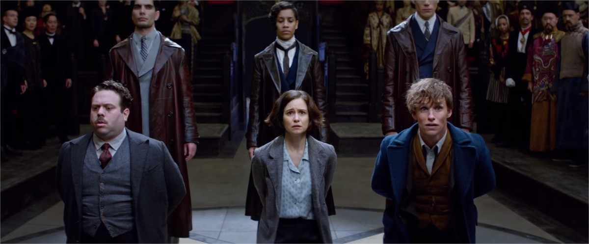 Jacob, Tina, and Newt  are central characters and all of them are outsiders   Harry Potter Spinoff Series Fantastic Beasts and Where to Find Them (2016)