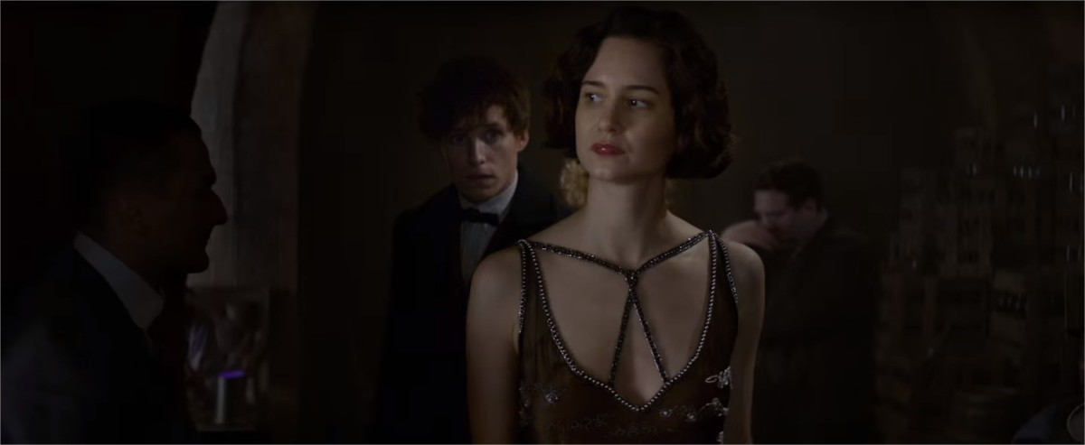 """Katherine Waterston as Porpentina """"Tina"""" Goldstein   In New York Scamander meets his future wife, Porpentina Goldstein   Harry Potter Spinoff Series Fantastic Beasts and Where to Find Them (2016)"""