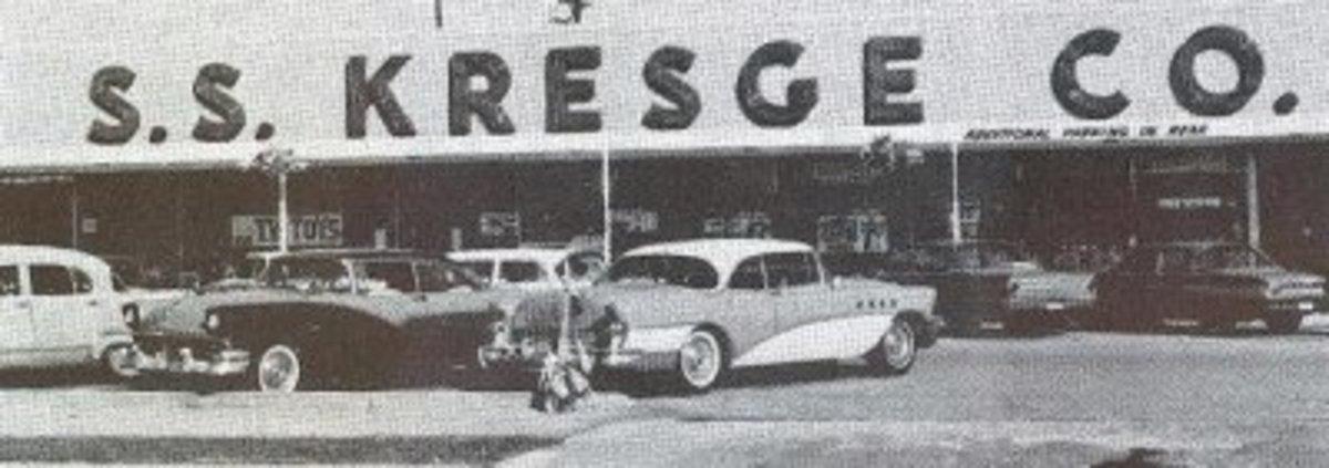 S.S. Kresges a Teenage GIrls Favorite Store-My sister's 2-tone Buick